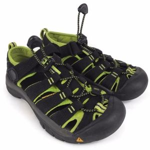 42bfe9001c77 Keen Shoes - KEEN H2 Waterproof Kids Sandals Black Lime